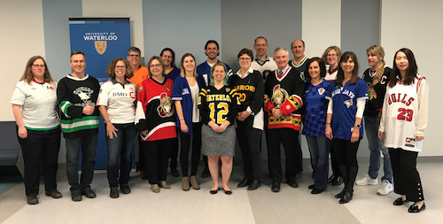 Members of the Faculty of Science wear jerseys.