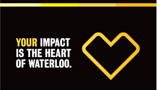 Your Impact is the heart of Waterloo banner.