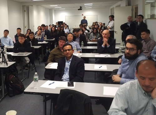 Attendees at the WatRISQ lecture in New York.