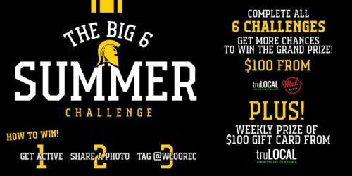 The Big 6 Summer Challenge banner.