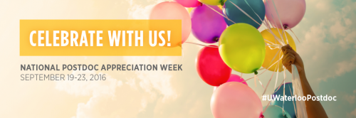Celebrate with us! Postdoc Appreciation Week images.