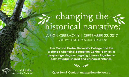 Changing the Historical Narrative sign ceremony.