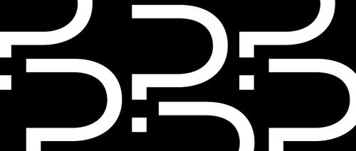 Problem Pitch logo - a series of P's that look like question marks.