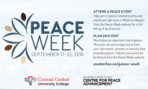 Peace week graphic and advertisement
