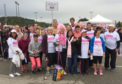Members of the Optometry Rack Pack at the 2018 Run for the Cure.