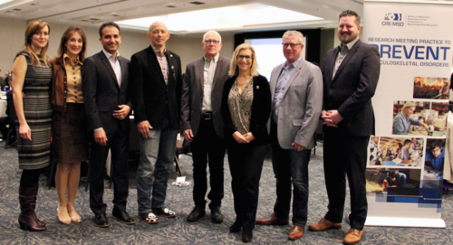 Conference participants included the CRE-MSD team, Ministry of Labour representatives, Ontario's Chief Prevention Officer and the Parliamentary Assistant to the Minister of Labour.