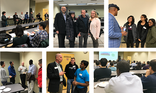 A collage of images from the HVACR career night event.