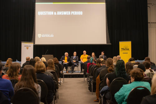 A panel discussion at the student mental health forum
