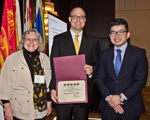Marian Crandall, ETS, Jeff Casello, Associate Vice-President,  Graduate Studies and Postdoctoral Affairs, Andrew Kim, CAGS board of directors