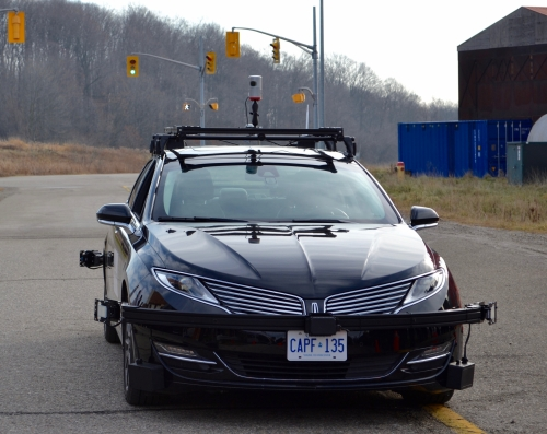 The Autonomoose autonomous car.
