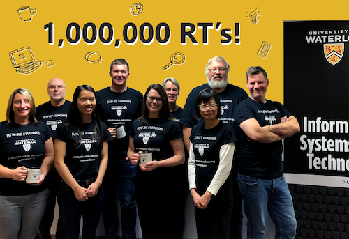 The 1,000,001st RT ticket requestor joins IST's Service Desk staff who triage RT tickets, and IST's RT administrators, to celebrate the 1,000,000th RT ticket.