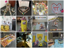 A collage of can-built displays.