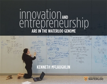 "The cover image of ""Innovation and Entrepreneurship are in the Waterloo Genome."""