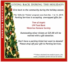 Parking Services Gifts for Tickets promo.