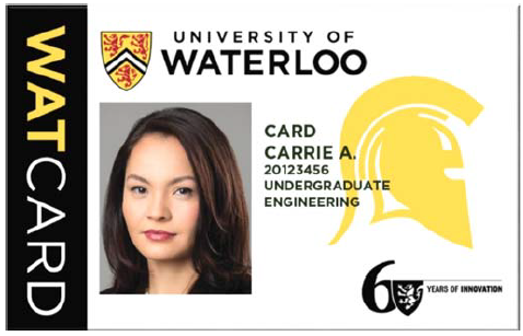 The redesigned WatCard.