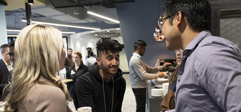 Students networking at Data Science Industry Panel Event
