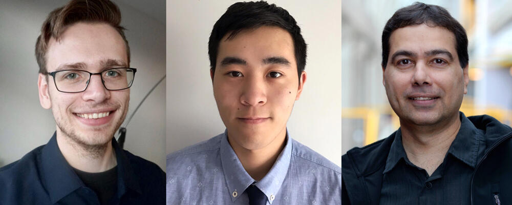 photo of Brad Glasbergen, Fangyu Wu, CS Prof Khuzaima Daudjee