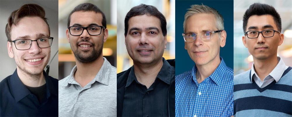 photo of Brad Glasberge, Michael Abebe, Khuzaima Daudjee, Daniel Vogel, Jian Zhao