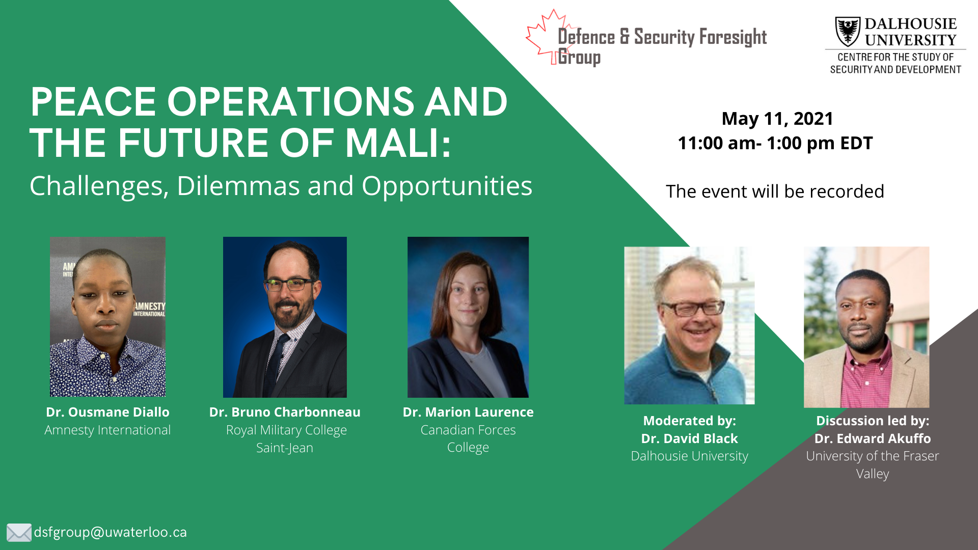 Peace operations and the future of Mali event