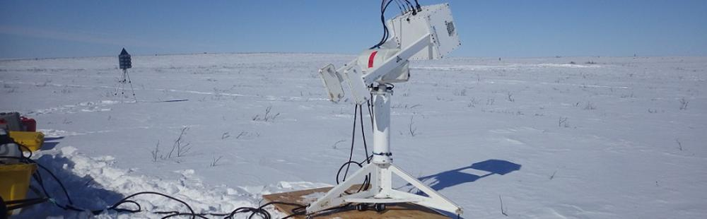 UW-Scat (scatterometer) deployed on Grand Mesa, CO during the 2017 NASA SnowEx campaign