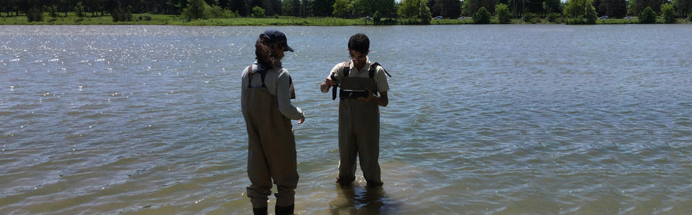 students test radiometer in water