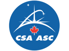 Canadian Space Agency logo.