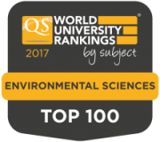 2017 QS World Subject Ranking Environmental Sciences Top 100