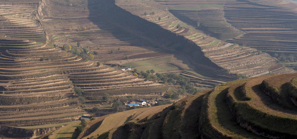 The Loess Plateau in NW China.