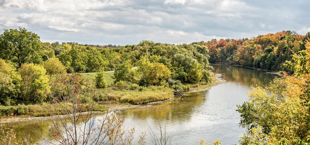 The Grand River in summer.