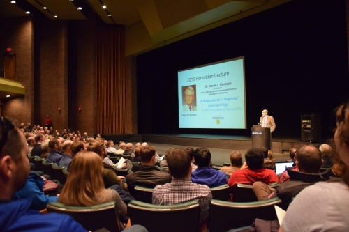 Prof. Dave Rudolph speaking at the 2015 Farvolden Day Lecture.