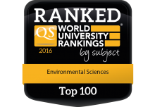 2016 QS World University Subject Ranking - Enivronmental Science Top 100