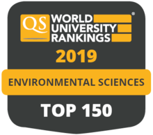 QS World University Rankings 2019 Environmental Sciences Top 150