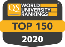 QS world rankings 2020 top 150 badge