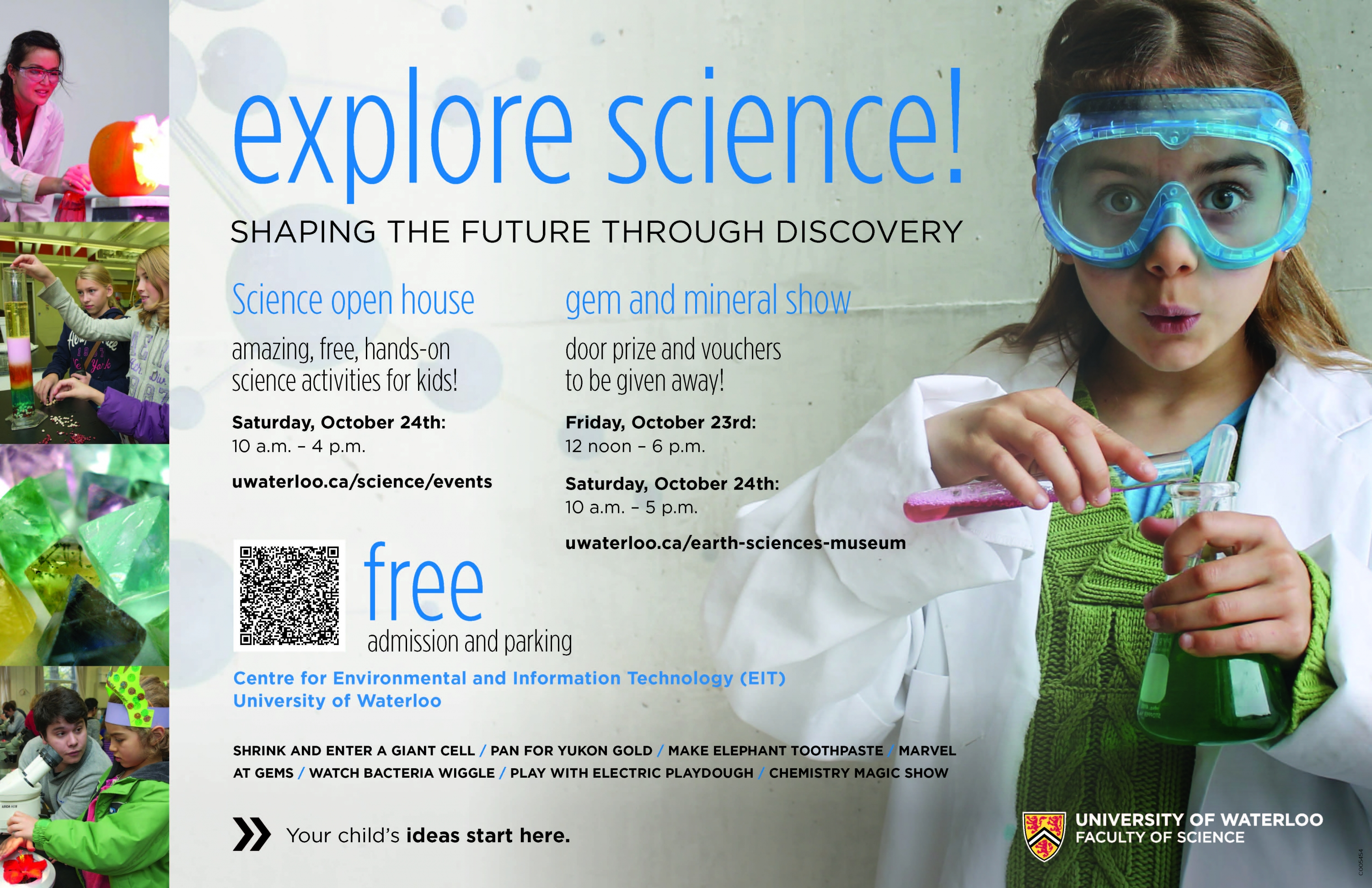 Science Open House event poster.