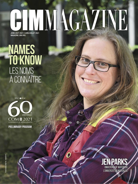 Jen Parks on the cover of CIM magazine.