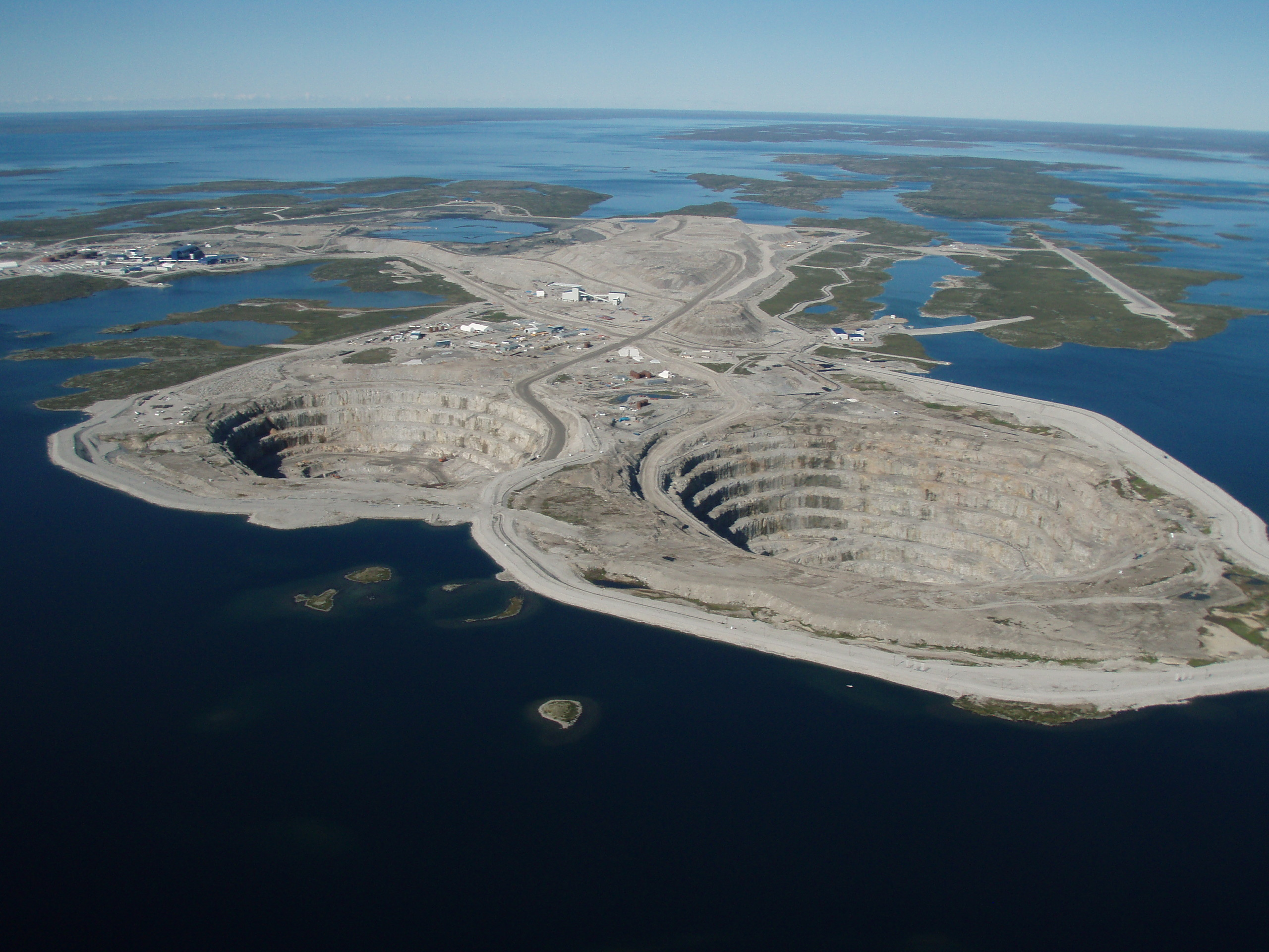 Diavik Diamond Mine at Lac de Gras, Northwest Territories, Canada