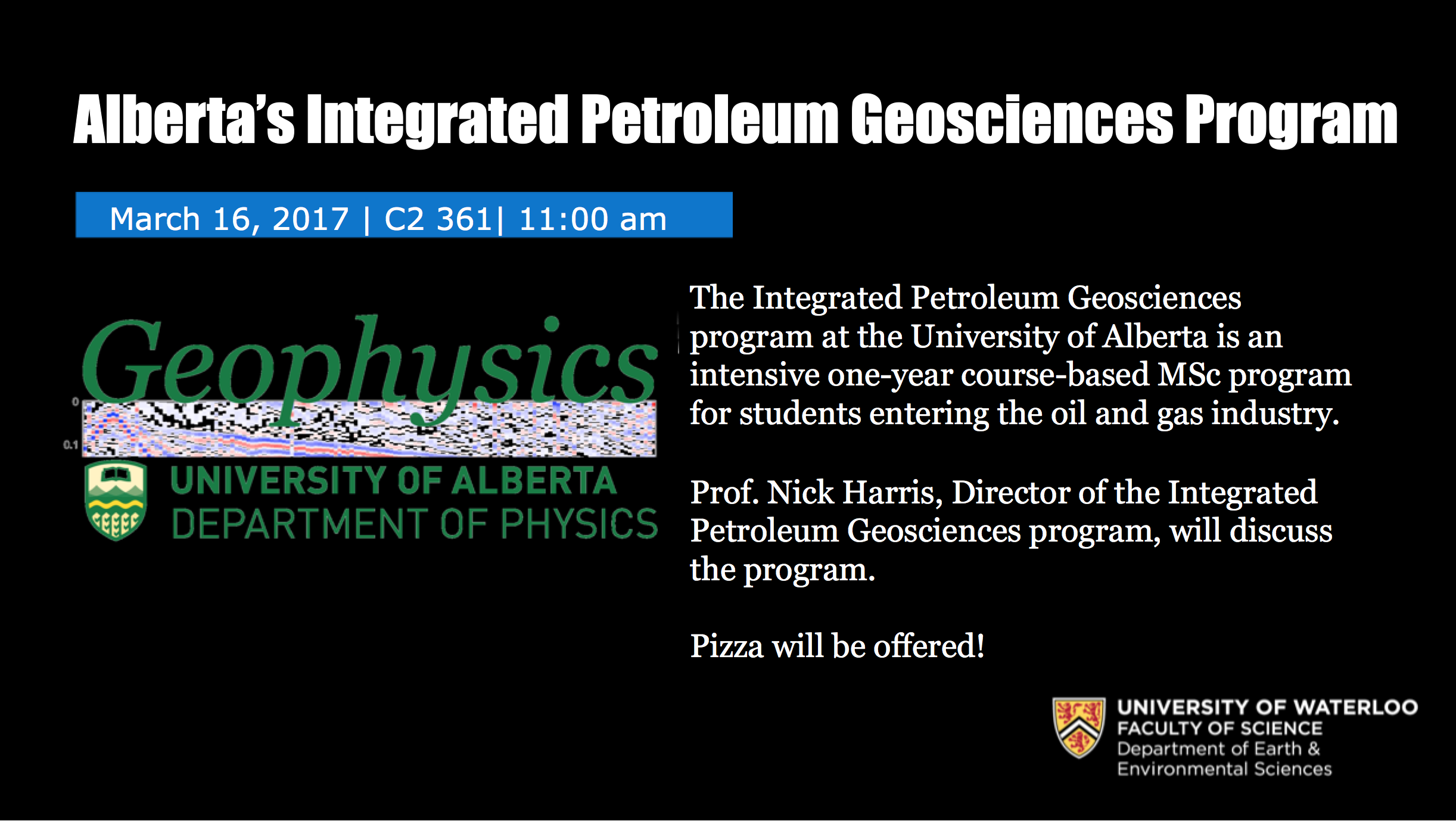 Geophysical sciences UofA poster