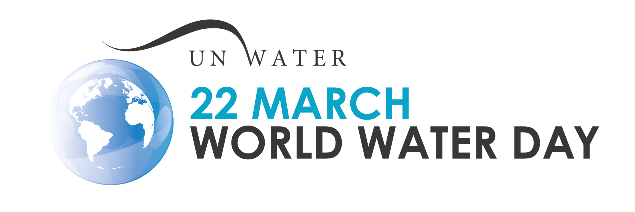 UN World Water Day March 22 with image of the world