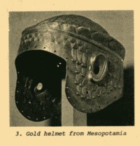 gold helmet found at ur