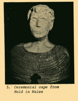 ceremonial cape made of gold from wales draped on a bust