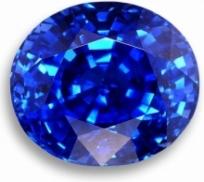 round blue gemstone; sapphire