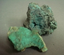 green pieces of malachite