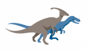 Earth sciences musuem dinosaur logo