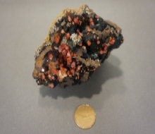 Vanadinite on Goethite
