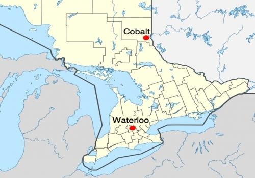 Waterloo Canada Map Cobalt Ontario: Canada's silver town | Earth Sciences Museum