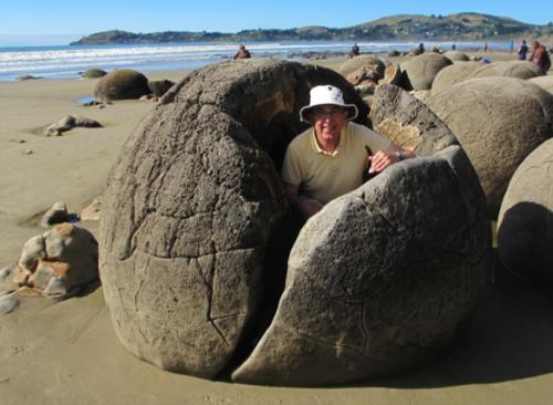 Peter inside a Rock