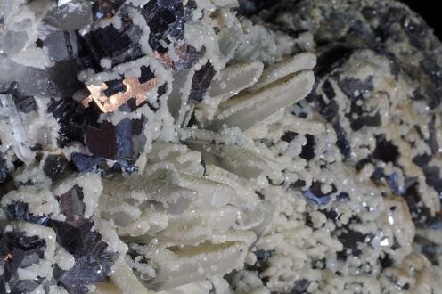 Galena and Sphalerite with Calcite