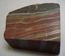 red and brown striped rock
