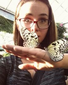 Alina Bielak with butterflies