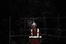 Sean Brace in underground gold mine